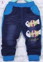 2013 new Autumn fashion fidhing bone jean pants for children/kids wear trousers children's casual pants 4pcs per lot