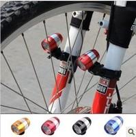 Bicycle light mountain bike bicycle warning light 6led aluminum mini headlight rear light caplights  free shipping