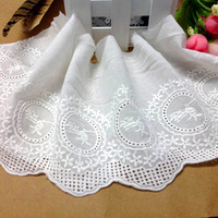 13cm width,one lot is 4yards,two lots is 10yards, vintage embroidery cotton cloth laciness 13