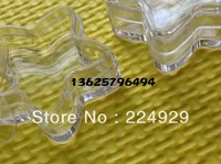 Free shipping 100 pcs/lot 5g five-pointed star cream jar, 5cc cosmetic container, plastic bottle,sample jar