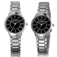New Noble Wristwatch Silver Stainless Steel Women Lady Quartz Watch SINOBI