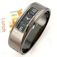 Vogue Black Alloy Elegant Lady Women's Bangle Bracelet Wrist Watch Quartz Gifts