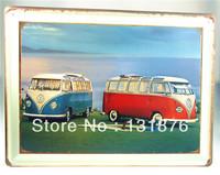 30*40CM 2013 Hot Sale! Das Auto Vintage Tin Sign Retro House Poster Wall Decor Metal Bus Iron Painting