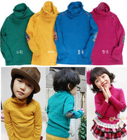 Free shipping, Children's /kids' clothing, basic turtleneck shirt male female child long-sleeve T-shirt