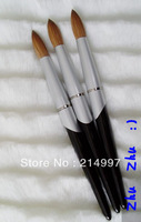 Wholesale+New Design big size Black handle 16#- Pure kolinsky professional painting acrylic brush Free Shiping