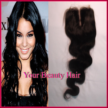 "Free shipping Cheap Virgin Brazilian Wavy Hair Lace Top Closure Body Wave 4x4"" free style  Virgin Lace Closure Bleached Knots"