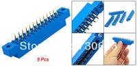 5 Pcs 805 Series 3.96mm Pitch 24P PCB Card Edge Connectors
