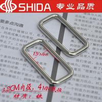 Bags accessories  3.8cm white rectangular metal buckle connect buckle mouth buckle - diy bag strap buckle,20pcs/lot