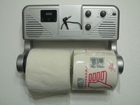 Bathroom toilet paper tube band radio clock mp3 towel rack paper towel tube paper holder toilet paper box