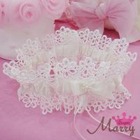 Western-style wedding garter bridal garter lace bow garter opening gater