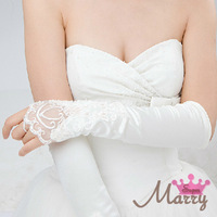 Wedding gloves the bride married gloves fingerless embroidered beads gloves bridal gloves