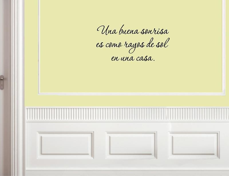 product Una buena sonrisa es como rayos de sol en una casa.     On Wall Decal Sticker