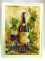 30*40CM Wine Poster Canteen Decor Bar Decor Cabernet Sauvignon Pub Tin Sign Grape Iron Painting Brewer Tin Picture