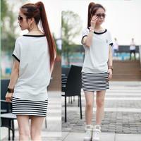 2013 women's summer white t-shirt Women female summer short-sleeve female loose t-shirt basic short-sleeve shirt female