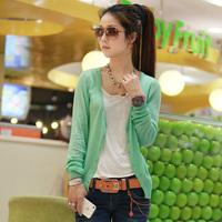 Women's summer 2013 thin cardigan outerwear female sun protection clothing long-sleeve transparent basic shirt female