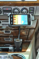 Car Cigarette Lighter Socket + Phone Holder + Dual USB Charger For Samsung Galaxy Note 2 S2 S3 S4 I9500 LG Nexus 4 Spirit 4G