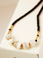 Free shipping more than $15+gift elegant luxury all-match eye female short design necklace man jewelry gift love white
