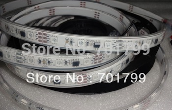 5m DC12V 48leds/m 16pcs ws2811 ic/meter(16pixels) led digital strip,IP68;epoxy resin filled in the tube