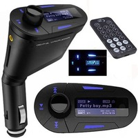 Hot Sale Car MP3 Player Wireless FM Transmitter With USB SD MMC Slot Free Shipping
