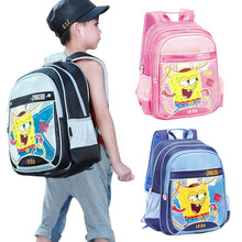 Freeshipping - Whole/retail Primary School Bag Child Backpack SpongeBob Cartoon Backpack SB0033(China (Mainland))