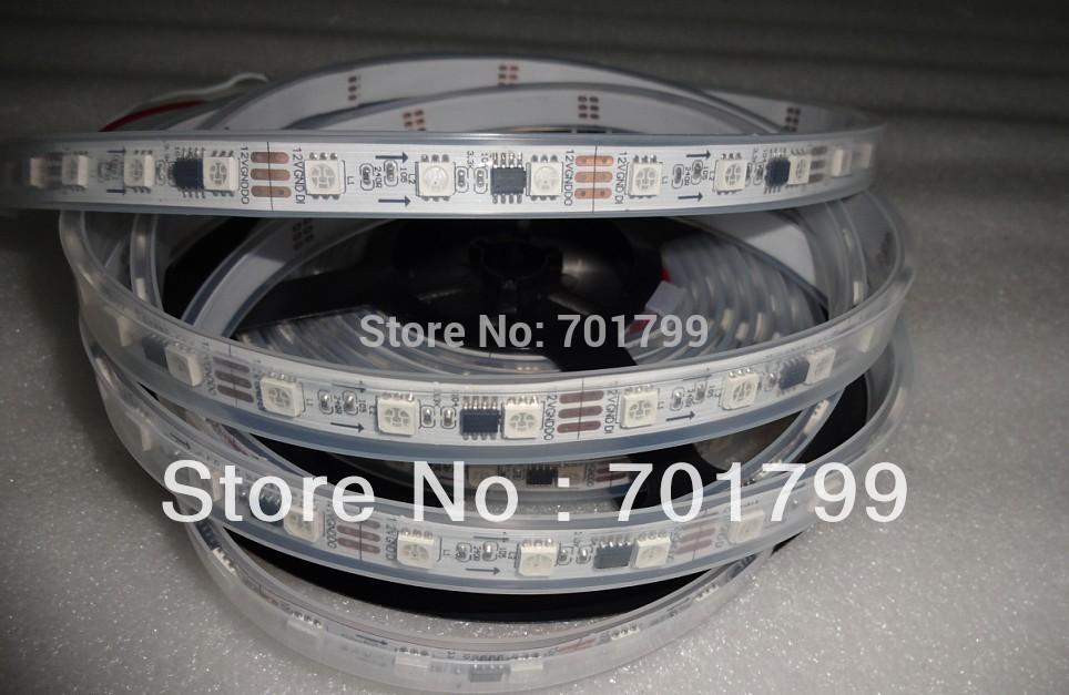 5m dc12v 60leds/m 20 stück ws2811 ic/Meter( 20pixels) führte digitalen streifen; ip68; wasserdicht in silikonschlauch
