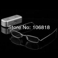 Handy Reader Book Map Menu Stainless Steel Full Frames Folding Foldable Reading Glasses +1.50 Men Women Pocket Aluminum Eye Case