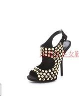 2013 summer rivet high-heeled sandals fashion gz shoes ultra high shoes sandals