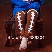 Free Shipping(MOQ 1 pair) Cotton Baby Football Leg Warmer with Ruffles,Cotton Leg Warmer