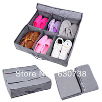 Visual 6 hard bamboo charcoal boots storage shoe box shoes boot finishing box folding large capacity with Lid, just 1 pcs