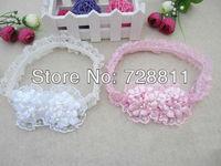 2+1  baby girl's flower headband hair accessories/girl headwear/infant lace hairbands children headwear 1pcs free shipping