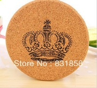 Medium size Fashion Cork Vintage Print Coasters eco-friendly Heat Insulation Pad