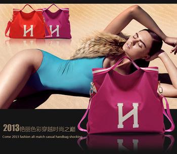 2014 new waterproof oxford leather monogram handbag shoulder bag+Five colors