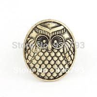 Wholesale 12pcs/lot  fashion Retro owl opening round rings