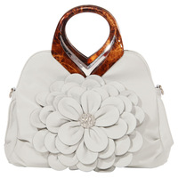 Flower women's handbag spring and summer handbag shoulder bag messenger bag three-dimensional flower women's bag