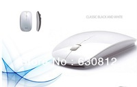 Ultra-thin smart lovely silver wireless mouse  with power save function