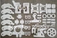 Reprap Prusa Mendel 3D printer prints a full set of ABS plastic