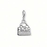 Free shipping Ts thomas diamond bow bag pendant