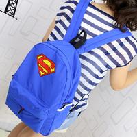 Free shipping Super man backpack light quality nylon backpack bag school bag