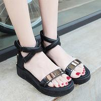 2013 summer hot-selling fashion metal decoration platform sandals all-match cross-strap platform sandals female