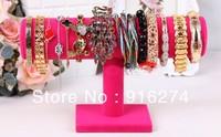 New Black 1-Tier Velvet Watch Bracelet Jewelry Display Stand Holder Rack