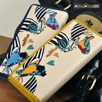 Free shipping for 2013 women's wallet female long design print horizontal wallet wallet clutch