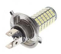 Bestselling Free Shipping LED H4 4W 120 SMD3528 White Light LED Bulb for Car Fog Lamp (12V)