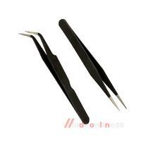 2 Black Acrylic Gel Nail Art Rhinestones Paillette Nipper Picking Tool M3AO