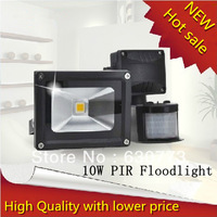 Free shipping New  PIR 10w led flood light ,Waterproof ip65 outdoor white/warm white 3200k-7000k motion sensor led flood light