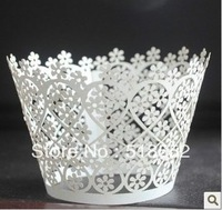 120pcs white Laser-cut Lace Cake Wrapper Cupcake Wrapper free shipping good quality patty wedding accessories (set of 120) H163