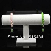 Wholesale Fashion Display  2 Pcs White Velvet T-bar Stand Holder Organizer Jewelry Bracelet Necklace Watch Display 23cm x 14cm