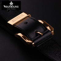 Strap male genuine leather genuine leather pin buckle belt male Men sb's belt buckle