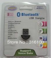 Free shipping smallest 2.0 Mini USB Bluetooth Adapter V2.0 EDR USB Dongle