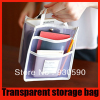 Free Shippment Multifunctional Nylon transparent handy travel storage bag/Sundries home storage organizer,yphb-G1139