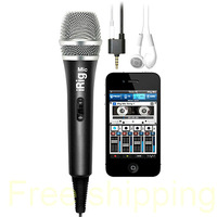 Free Shipping ByDHL Retail Sale Ik Multimedia Mic Microphone for i/Phone / i/Pad / i/Pod Touch,the first handheld Microphone